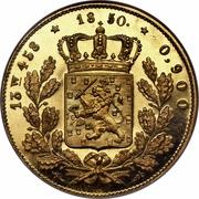 20 Gulden - Willem III – reverse