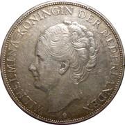 2½ Gulden - Wilhelmina – obverse