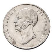 ½ Gulden - Willem II – obverse
