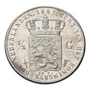 ½ Gulden - Willem II – reverse