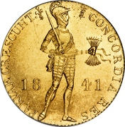 1 Ducat - Willem II (Trade Coinage) – obverse