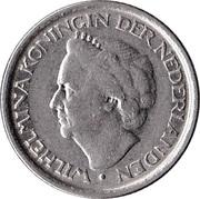 25 Cents - Wilhelmina -  obverse