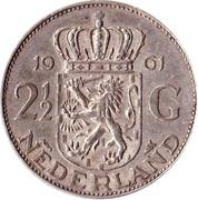 2½ Gulden - Juliana – reverse