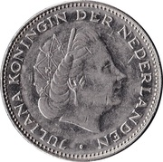 2½ Gulden - Juliana -  obverse