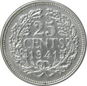 25 Cents - Wilhelmina – reverse