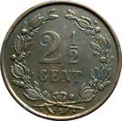 2½ Cents - Willem III / Wilhelmina – reverse