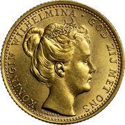 10 Gulden - Wilhelmina I – obverse