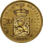 10 Gulden - Wilhelmina I – reverse