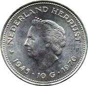 10 Gulden - Juliana (Liberation) – reverse