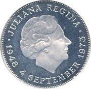 10 Gulden - Juliana (Anniversary of Reign) – obverse