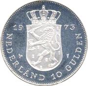 10 Gulden - Juliana (Anniversary of Reign) – reverse