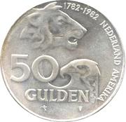 50 Gulden - Beatrix (Dutch-American Friendship) – reverse