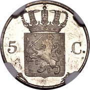 5 Cents - Willem I – reverse