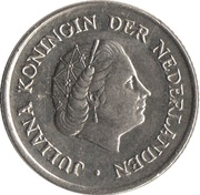 25 Cents - Juliana – obverse
