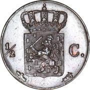 ½ Cent - Willem II – reverse