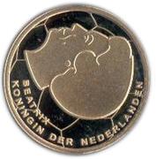 5 Gulden - Beatrix (European Football Championship) – obverse
