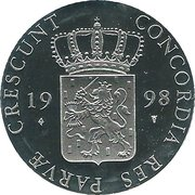 1 Ducat - Beatrix (Friesland; Silver Bullion Coinage) – obverse