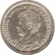 10 Cents - Wilhelmina – obverse