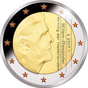 2 Euro - Willem-Alexander (50th Birthday; Colored) – obverse