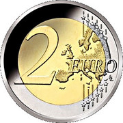 2 Euro - Willem-Alexander (50th Birthday; Colored) – reverse