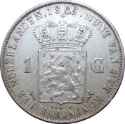 1 Gulden - Willem III -  reverse
