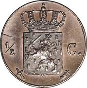 ½ Cent - Willem III – reverse