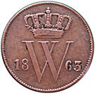 1 Cent - Willem III – obverse