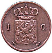 1 Cent - Willem III – reverse