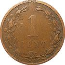 "1 Cent - Wilhelmina (""KONINGRIJK"") – reverse"