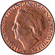 1 Cent - Wilhelmina -  obverse