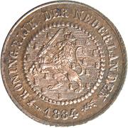 ½ Cent - Willem III / Wilhelmina – obverse