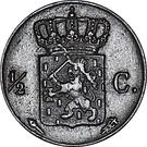 ½ Cent - Willem I – reverse