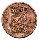 1 Cent - Willem I – reverse