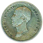 25 Cents - Willem II – obverse