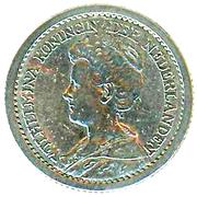 ½ Gulden - Wilhelmina -  obverse