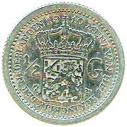 ½ Gulden - Wilhelmina -  reverse