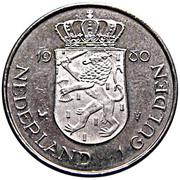 1 Gulden - Beatrix (Investiture of New Queen) -  reverse