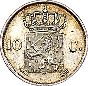 10 Cents - Willem I – reverse