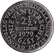 2½ Gulden - Juliana (Union of Utrecht) – reverse