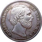 2½ Gulden - Willem III – obverse