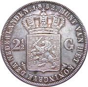 2½ Gulden - Willem III – reverse