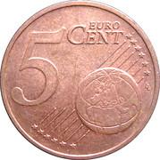 5 Euro Cent - Beatrix -  reverse