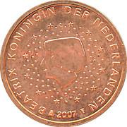 1 Euro Cent - Beatrix – obverse