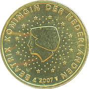 10 Euro Cent - Beatrix (2nd map) – obverse