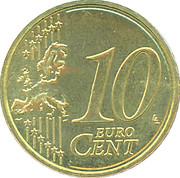 10 Euro Cent - Beatrix (2nd map) – reverse
