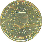 10 Euro Cent - Beatrix (1st map) -  obverse