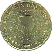 20 Euro Cent - Beatrix (1st map) -  obverse