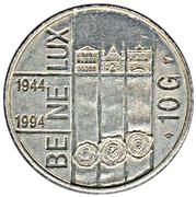10 Gulden - Beatrix (BE-NE-LUX Treaty) – reverse