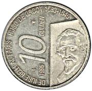 10 Gulden - Beatrix (Hugo de Groot) – reverse