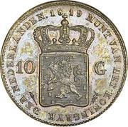 10 Gulden - Willem I – reverse